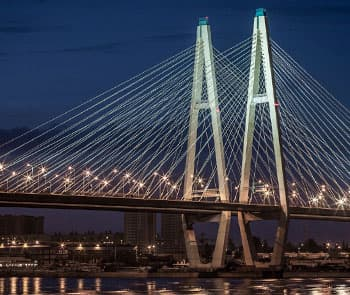 Every Night Cable Bridge Puts on a Shining Mantle